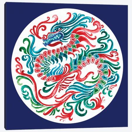 Flying Dragon Canvas Print #EWA327} by Eva Watts Canvas Art Print