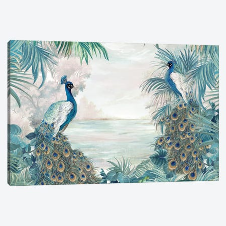 Indian Peafowls Canvas Print #EWA332} by Eva Watts Canvas Print