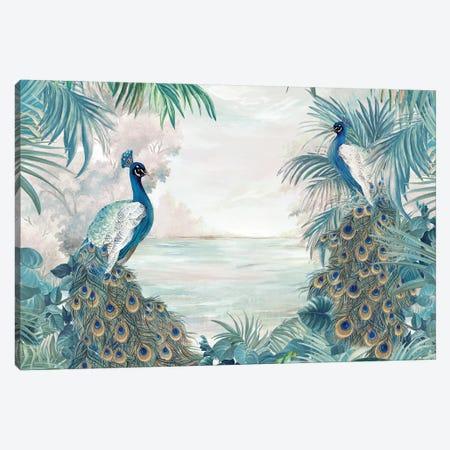 Indian Peafowls Canvas Print #EWA332} by Eva Watts Canvas Print