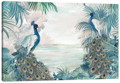 Indian Peafowls Canvas Art Print