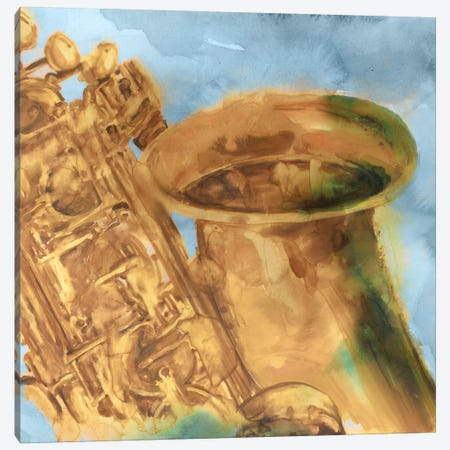 Musical Sax Canvas Print #EWA35} by Eva Watts Canvas Wall Art