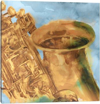 Musical Sax Canvas Art Print