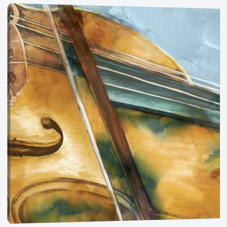 Musical Violin Canvas Print #EWA36} by Eva Watts Canvas Art