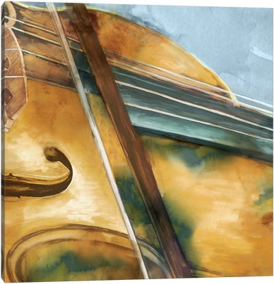 Musical Violin Canvas Art Print