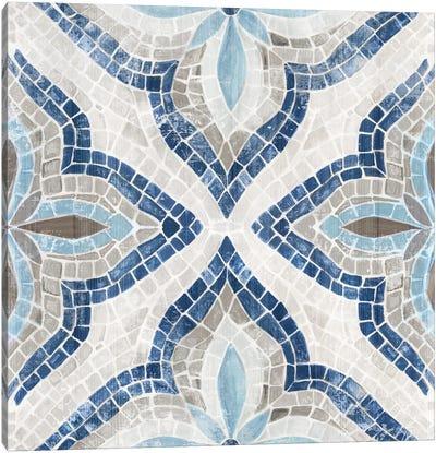 Blue Morrocan Tile Canvas Art Print