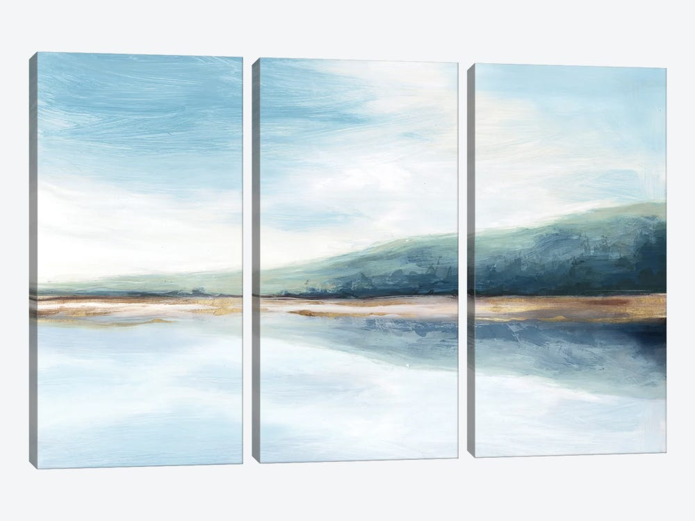 By The Water II by Eva Watts 3-piece Canvas Art