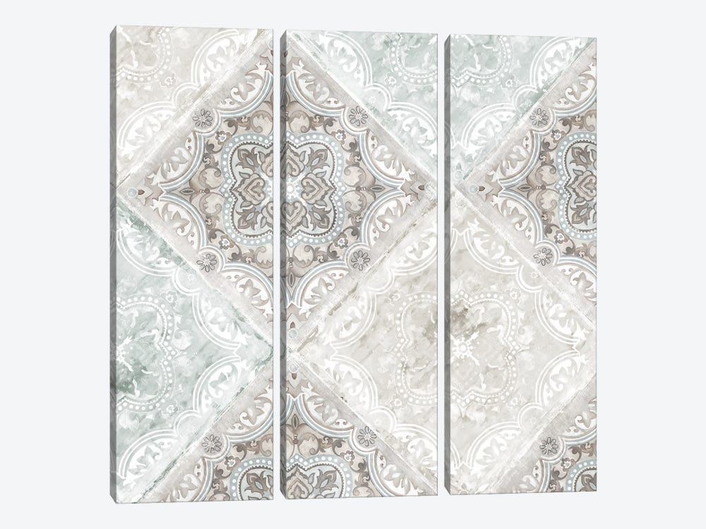 Delicate Tiles by Eva Watts 3-piece Canvas Artwork