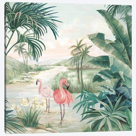 Flamingo Dream Canvas Print #EWA388} by Eva Watts Canvas Art