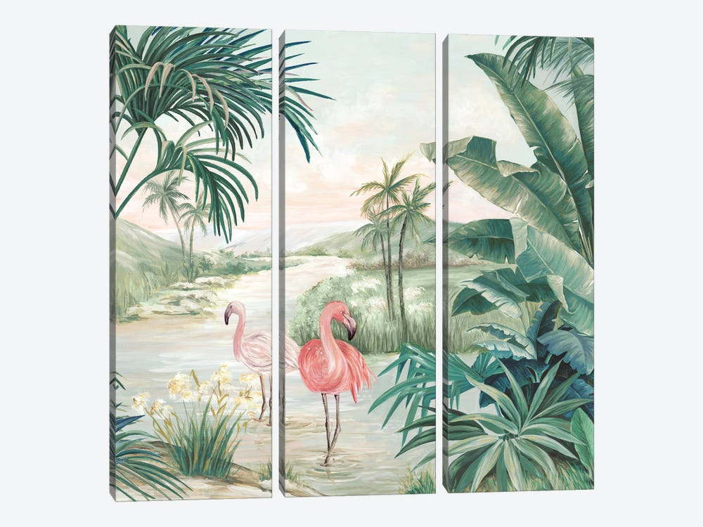 Flamingo Dream by Eva Watts 3-piece Canvas Print