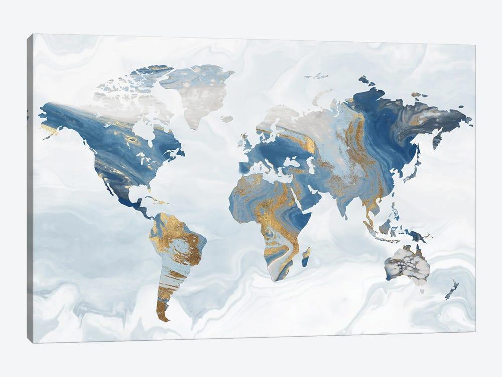 Geode Map by Eva Watts 1-piece Canvas Art