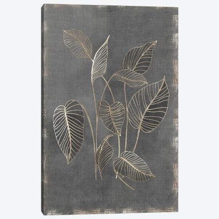 Gilded Botanical III Canvas Print #EWA399} by Eva Watts Canvas Print