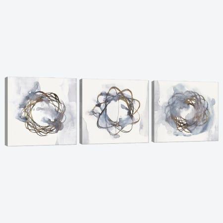 Einstein Atom Triptych Canvas Print Set #EWA3HSET003} by Eva Watts Canvas Art Print