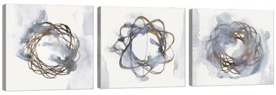 Einstein Atom Triptych Canvas Art Print
