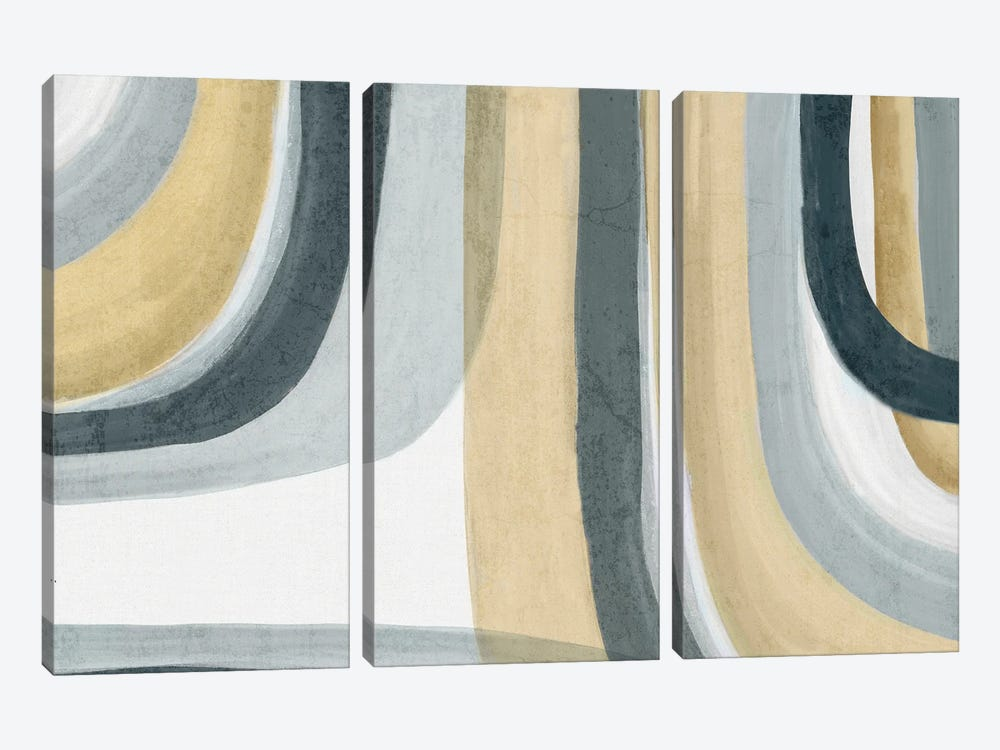 Neutral Movement I by Eva Watts 3-piece Canvas Print