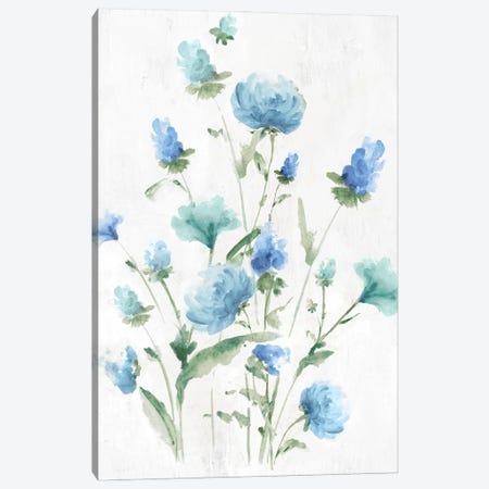 Tinted Blue Petals I Canvas Print #EWA428} by Eva Watts Canvas Art Print