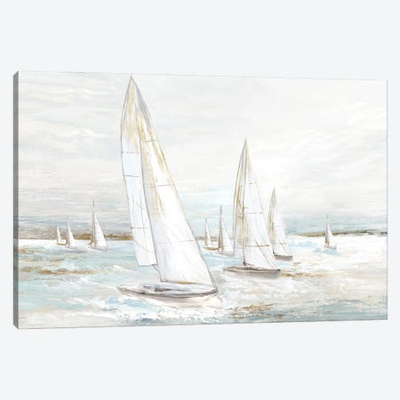 Windswept Sails I Canvas Print #EWA435} by Eva Watts Canvas Print