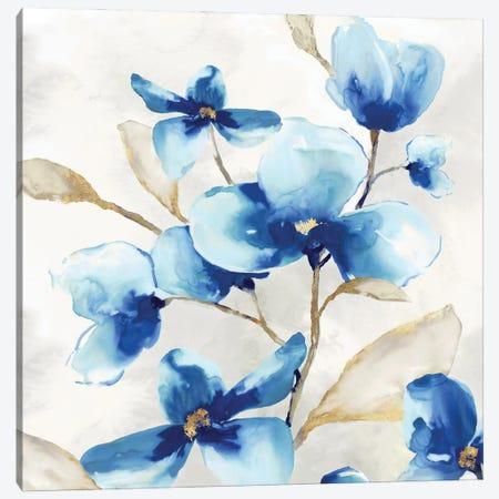 Blue Jardin I Canvas Print #EWA447} by Eva Watts Canvas Art