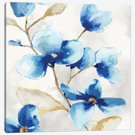 Blue Jardin II Canvas Print #EWA448} by Eva Watts Canvas Print