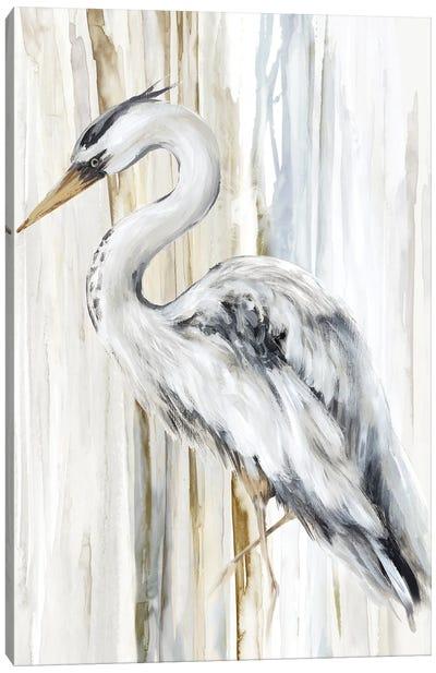 River Heron II Canvas Art Print