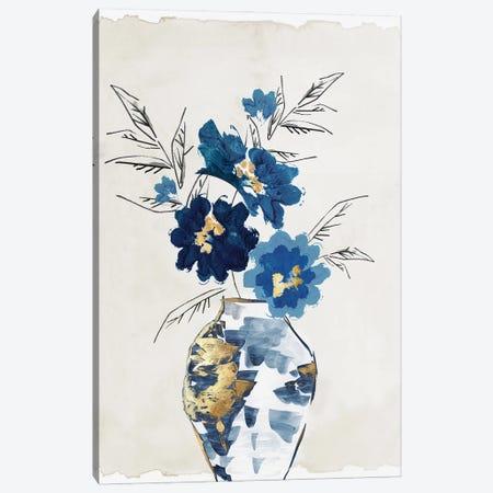 Sapphire Vase Canvas Print #EWA488} by Eva Watts Art Print