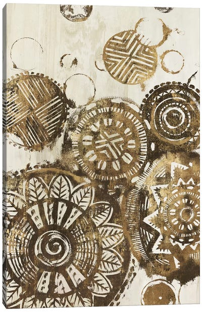 African Circles  Canvas Art Print