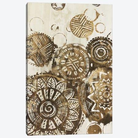 African Circles  3-Piece Canvas #EWA52} by Eva Watts Canvas Print