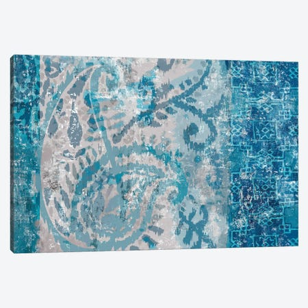 Blue Abstract Elegance I Canvas Print #EWA57} by Eva Watts Canvas Art