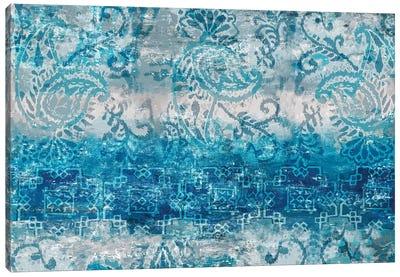 Blue Abstract Elegance II Canvas Art Print