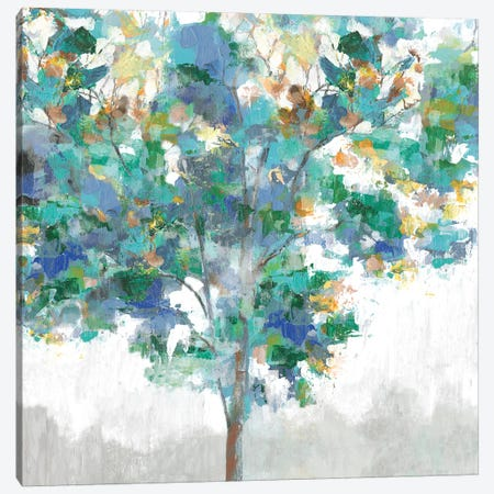 Climbing Blue Canvas Print #EWA59} by Eva Watts Canvas Print