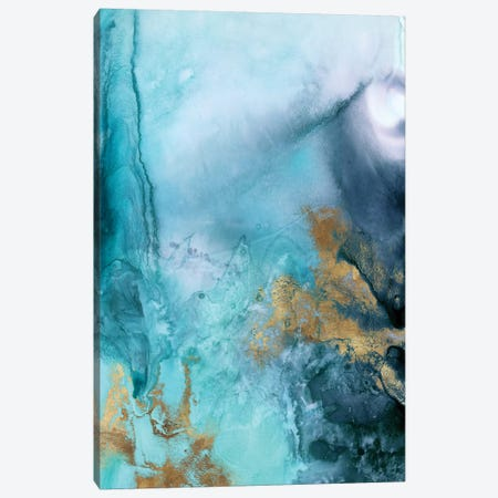 Gold Under The Sea I Canvas Print #EWA62} by Eva Watts Canvas Artwork