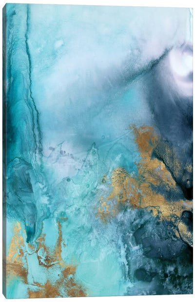 Gold Under The Sea I Canvas Art Print