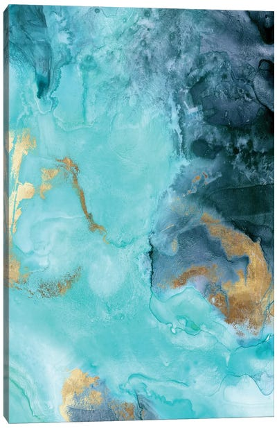 Gold Under The Sea II Canvas Art Print
