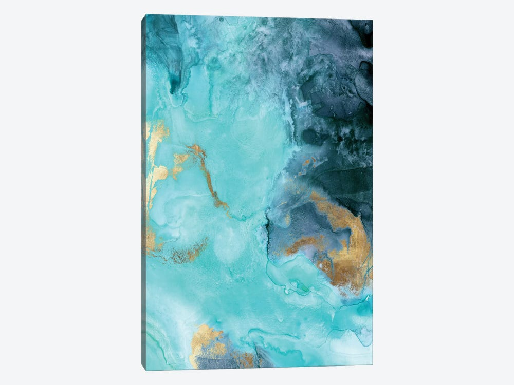 Gold Under The Sea II 1-piece Canvas Artwork