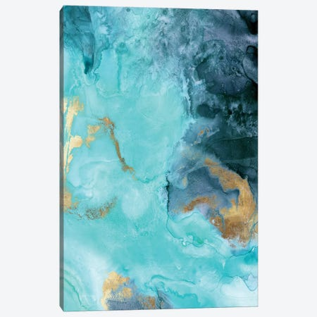 Gold Under The Sea II Canvas Print #EWA63} by Eva Watts Canvas Wall Art