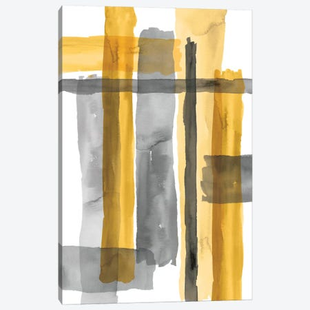 Golden Criss-Cross Canvas Print #EWA64} by Eva Watts Canvas Art Print
