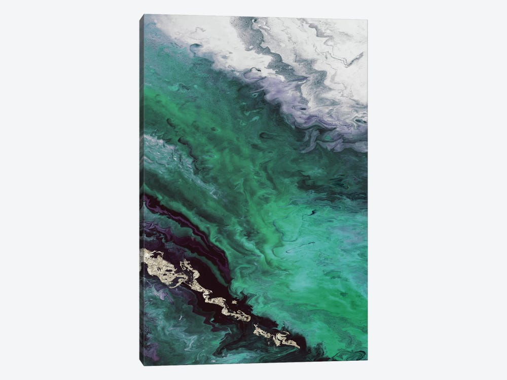 Green Shore Line From Above by Eva Watts 1-piece Canvas Art