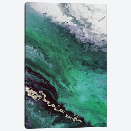 Green Shore Line From Above Canvas Print #EWA65} by Eva Watts Canvas Print
