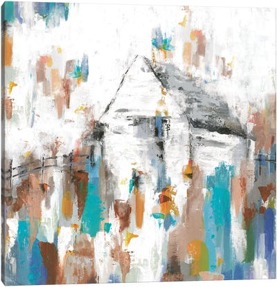 House In The Midst Canvas Art Print