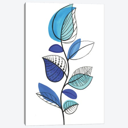 Illustrative Blue Canvas Print #EWA67} by Eva Watts Canvas Print
