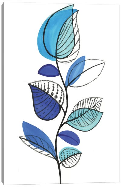 Illustrative Blue Canvas Art Print