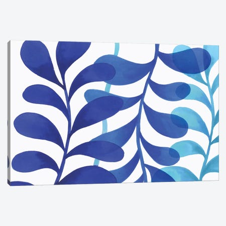 Indigo In Three Canvas Print #EWA68} by Eva Watts Canvas Wall Art