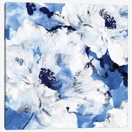 Little Blue I Canvas Print #EWA69} by Eva Watts Canvas Artwork
