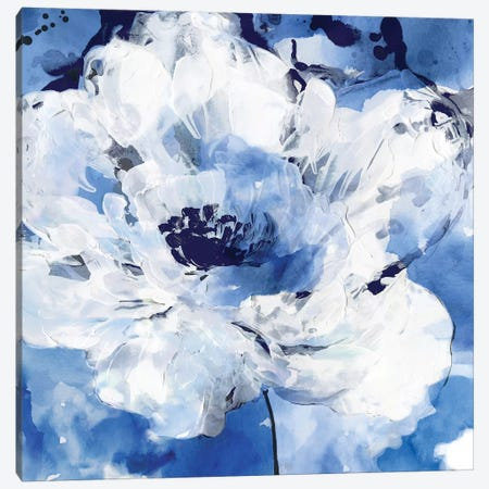 Little Blue II Canvas Print #EWA70} by Eva Watts Art Print