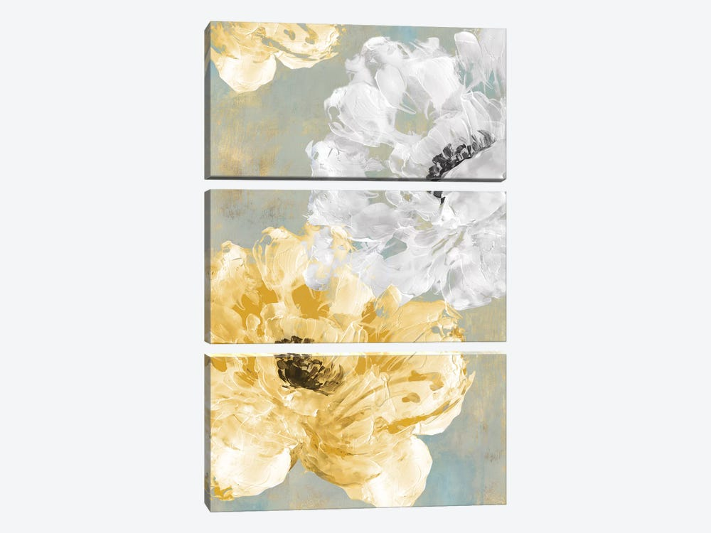 Neutral Contrast I by Eva Watts 3-piece Canvas Art Print