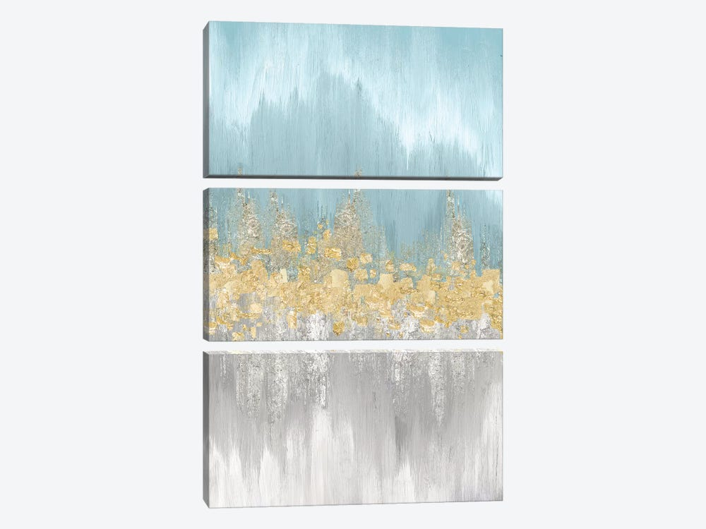 Neutral Wave Lengths I by Eva Watts 3-piece Canvas Art Print