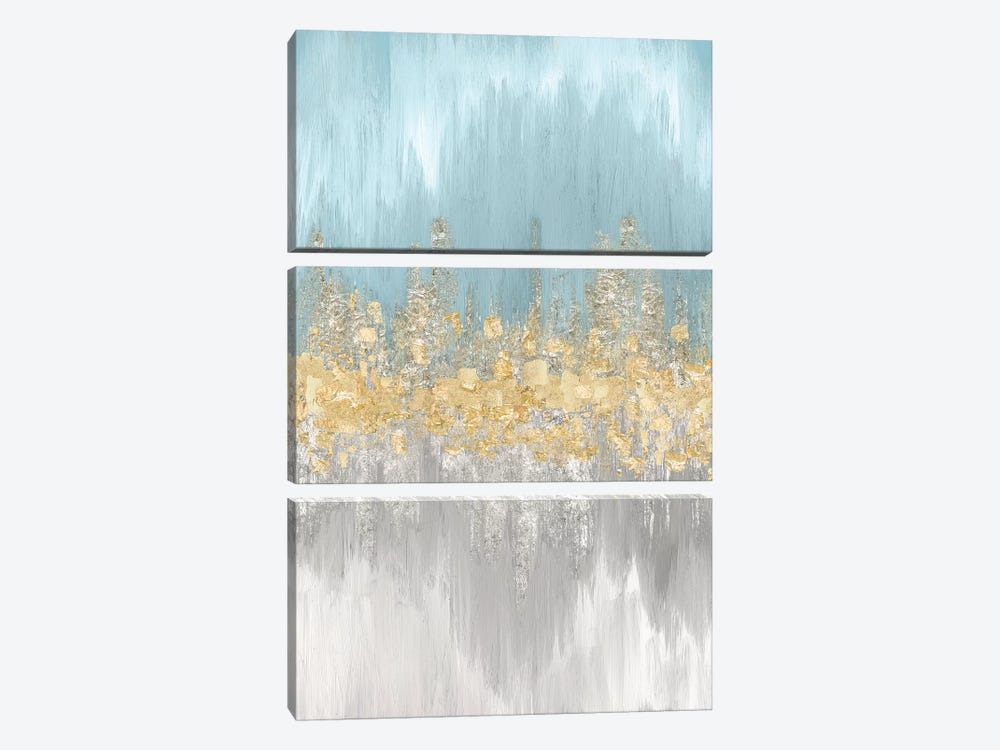 Neutral Wave Lengths II by Eva Watts 3-piece Canvas Wall Art