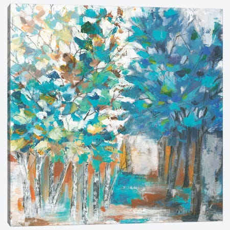 Pathway Of Blue Canvas Print #EWA76} by Eva Watts Canvas Artwork