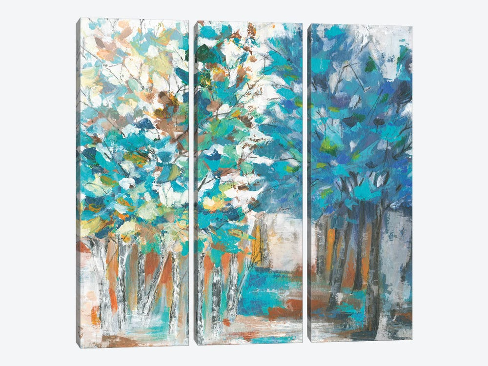 Pathway Of Blue by Eva Watts 3-piece Canvas Artwork
