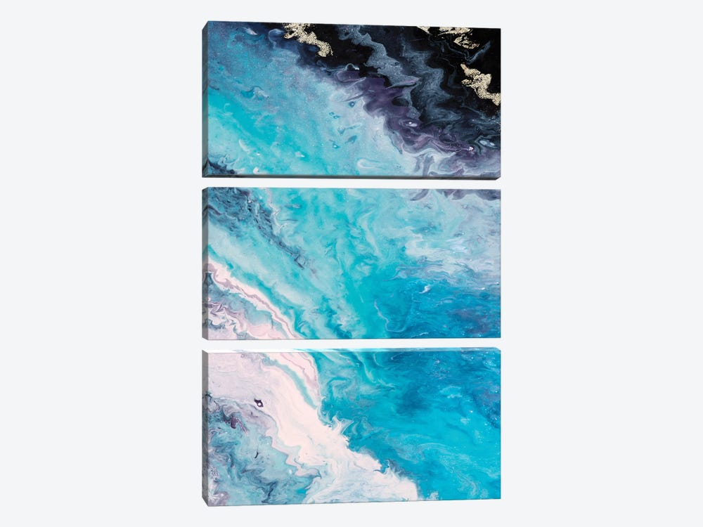 Shore Line From Above by Eva Watts 3-piece Canvas Art Print