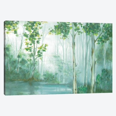 Swimming In Reflection Canvas Print #EWA80} by Eva Watts Canvas Artwork